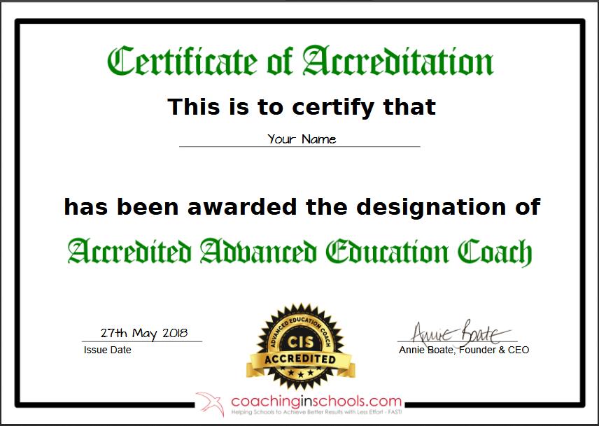 coaching schools accredited training